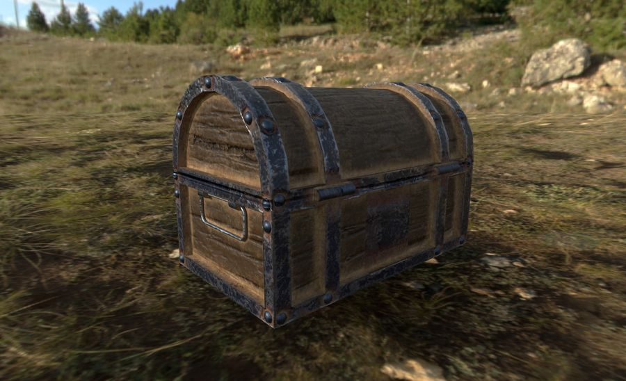 Chest royalty-free 3d model - Preview no. 3