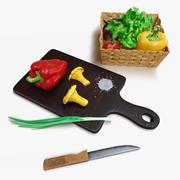 Ensemble de légumes 3d model