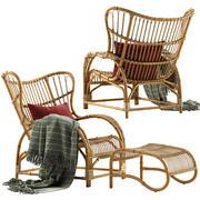 시카 디자인 테디 라운지 의자 3d model