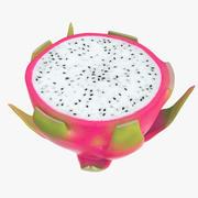 Dragonfruit half 3d model