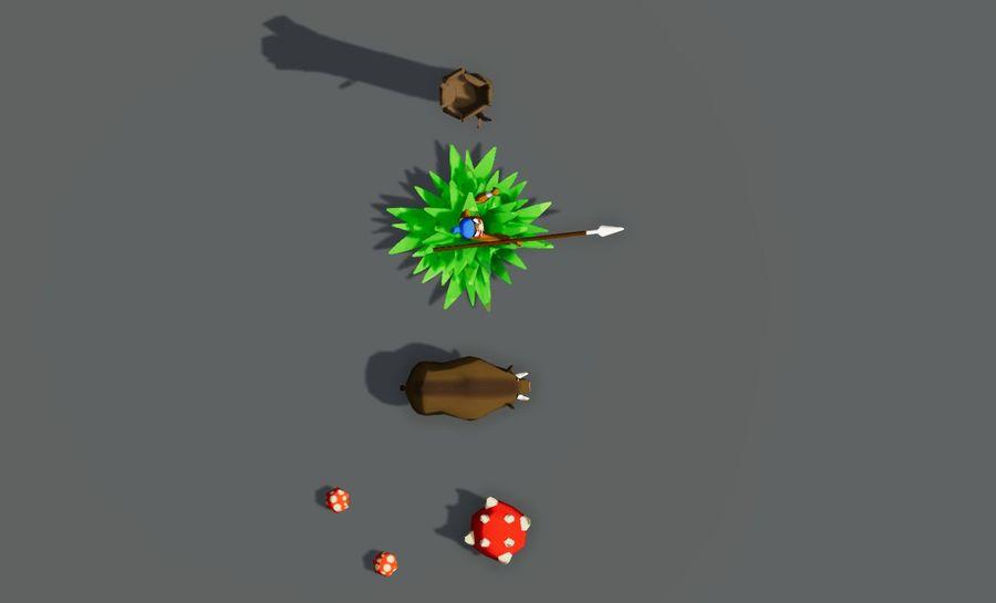Pakiet potworów leśnych royalty-free 3d model - Preview no. 4