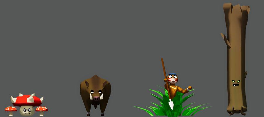 Pakiet potworów leśnych royalty-free 3d model - Preview no. 1