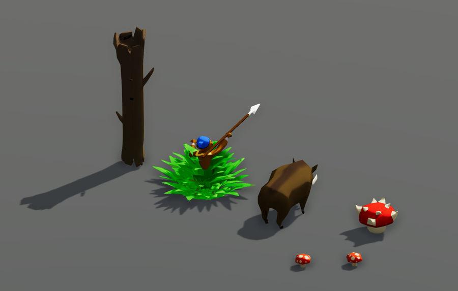 Pakiet potworów leśnych royalty-free 3d model - Preview no. 3