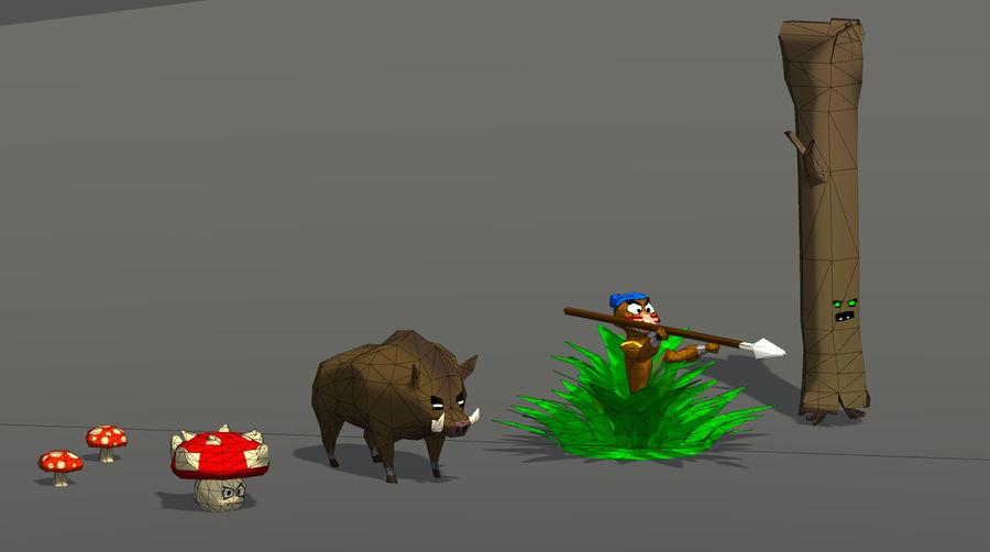 Pakiet potworów leśnych royalty-free 3d model - Preview no. 5