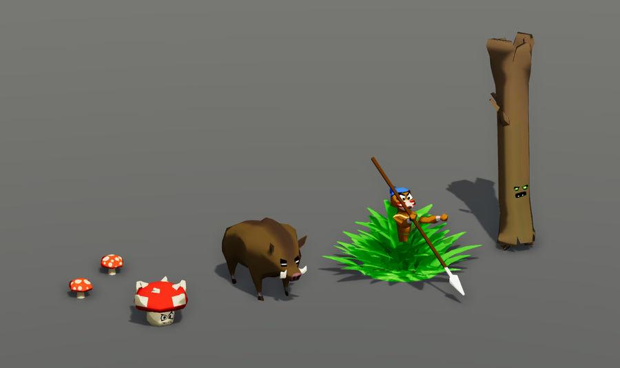 Pakiet potworów leśnych royalty-free 3d model - Preview no. 2
