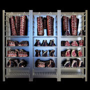 Shelves with meat 3d model