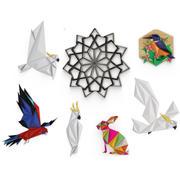 Kolekcja rzeźby Origami 3d model