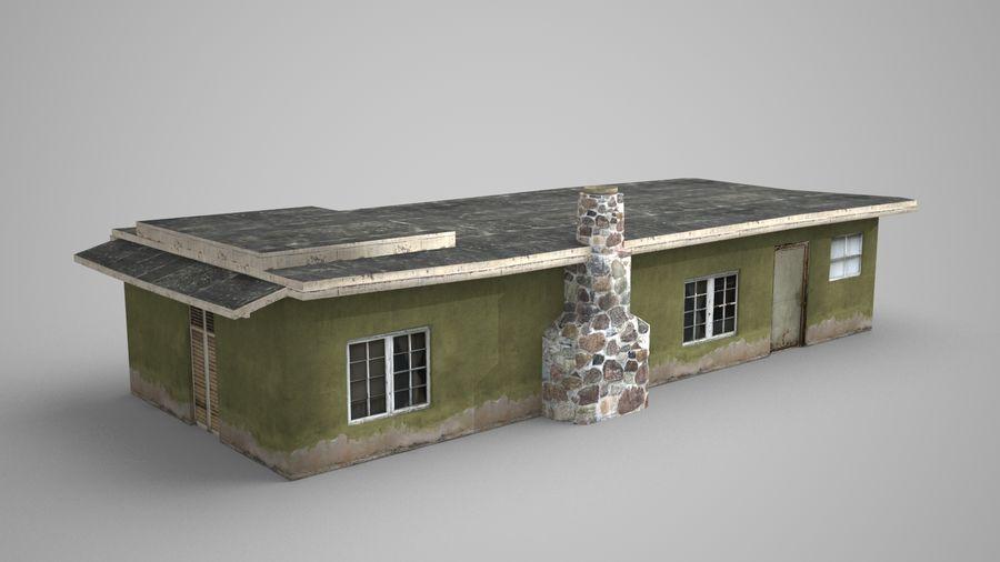 现代建筑小屋 royalty-free 3d model - Preview no. 3