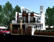 Residencia de dos pisos modelo 3d