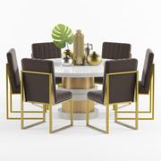 Okrągły stół i krzesło Boca 3d model