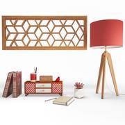 Objetos decorativos de madera modelo 3d