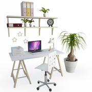 Состав бюро офиса 3d model