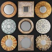 Coleção de espelhos decorativos 3d model