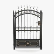 Wrought iron gate 10 3d model
