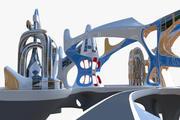 Future ville V (1) 3d model