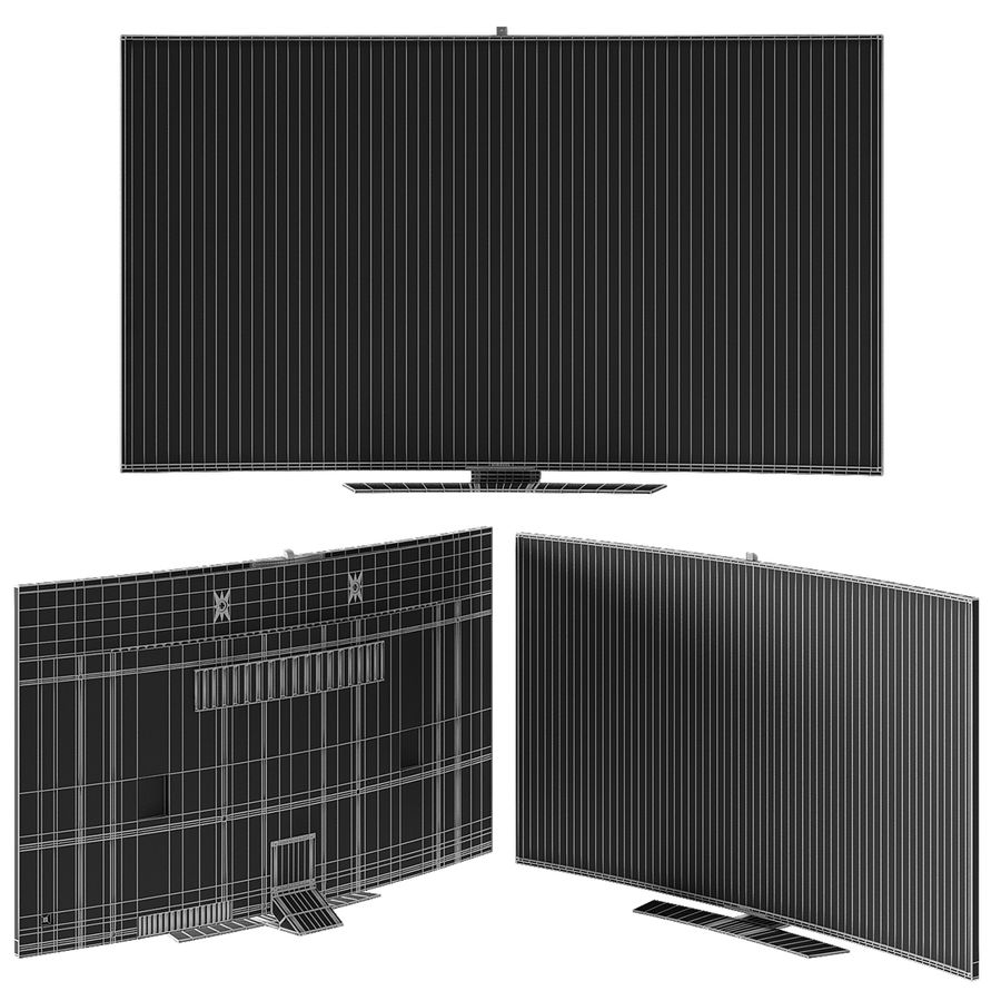 Samsung Curved Smart Tv royalty-free 3d model - Preview no. 3
