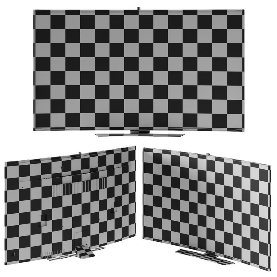 Samsung Curved Smart Tv royalty-free 3d model - Preview no. 9