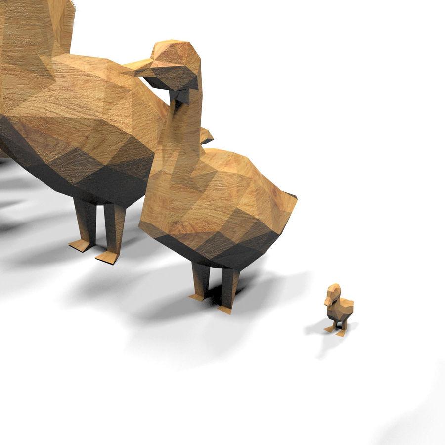 Scatola Con Giocattoli Di Animali In Legno royalty-free 3d model - Preview no. 20
