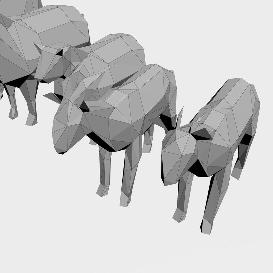 Scatola Con Giocattoli Di Animali In Legno royalty-free 3d model - Preview no. 29