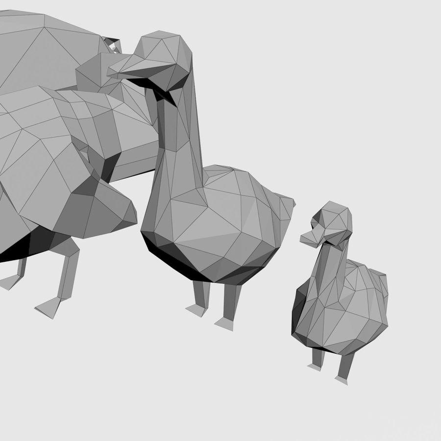 Scatola Con Giocattoli Di Animali In Legno royalty-free 3d model - Preview no. 31