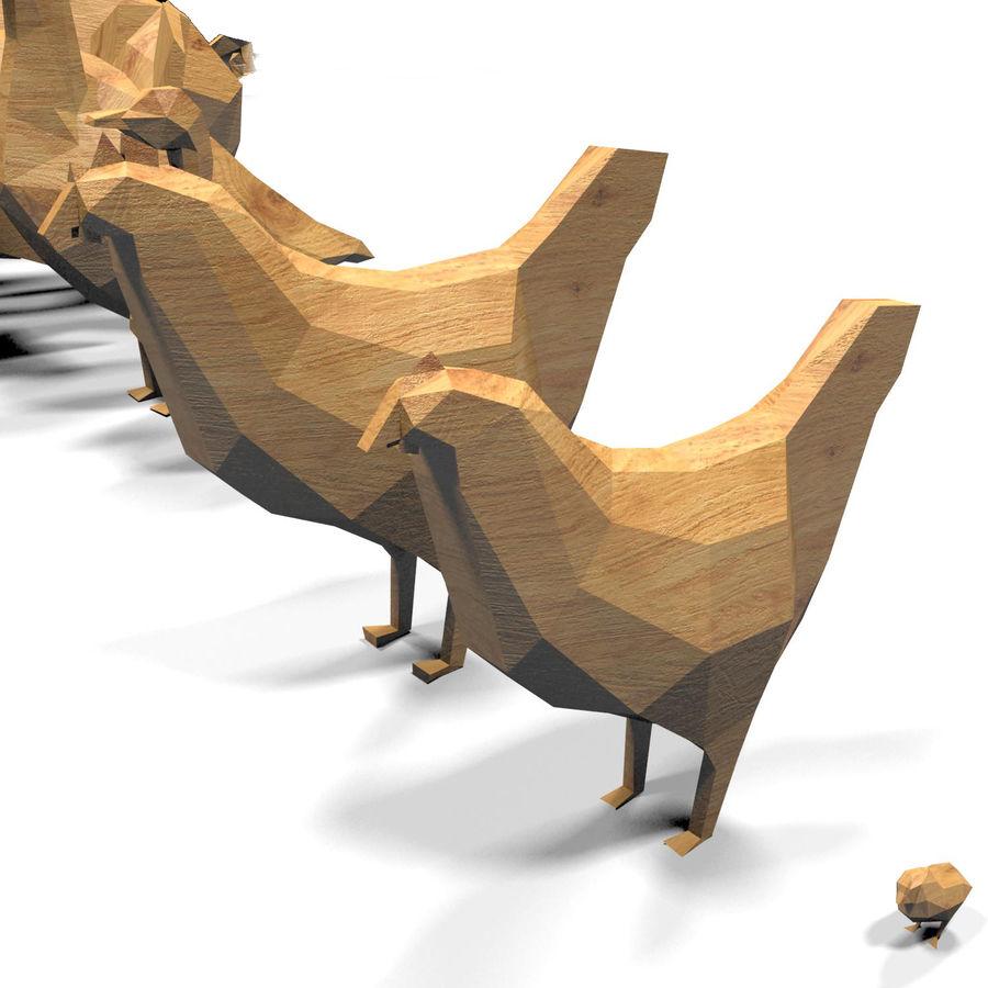 Scatola Con Giocattoli Di Animali In Legno royalty-free 3d model - Preview no. 21
