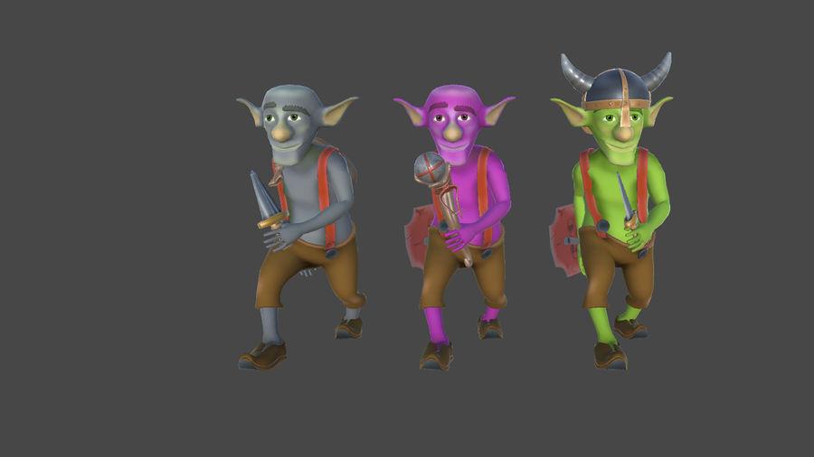 Goblins - personagens com animações royalty-free 3d model - Preview no. 2