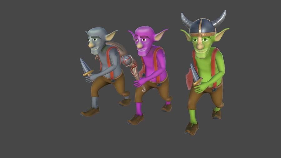 Goblins - personagens com animações royalty-free 3d model - Preview no. 1
