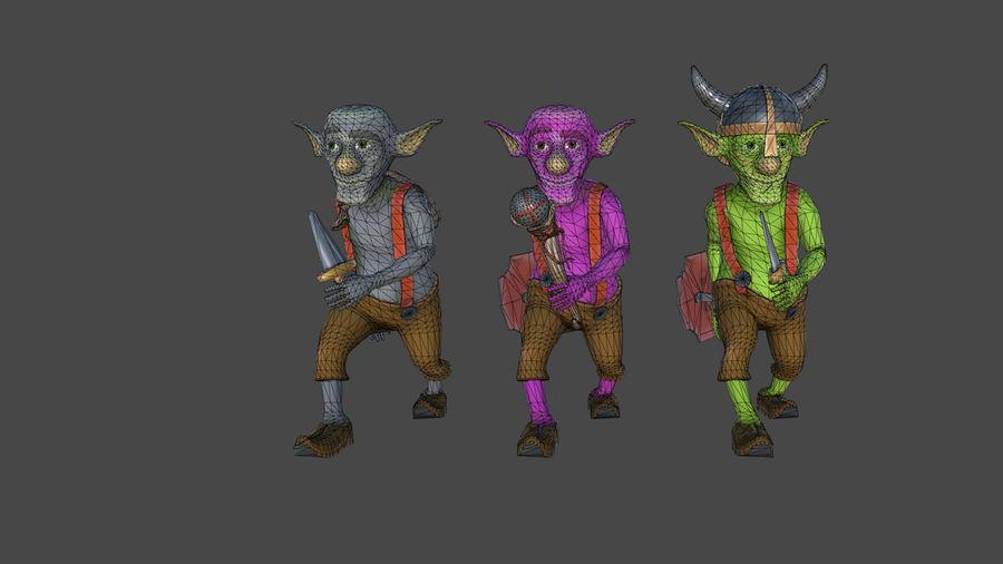 Goblins - personagens com animações royalty-free 3d model - Preview no. 3