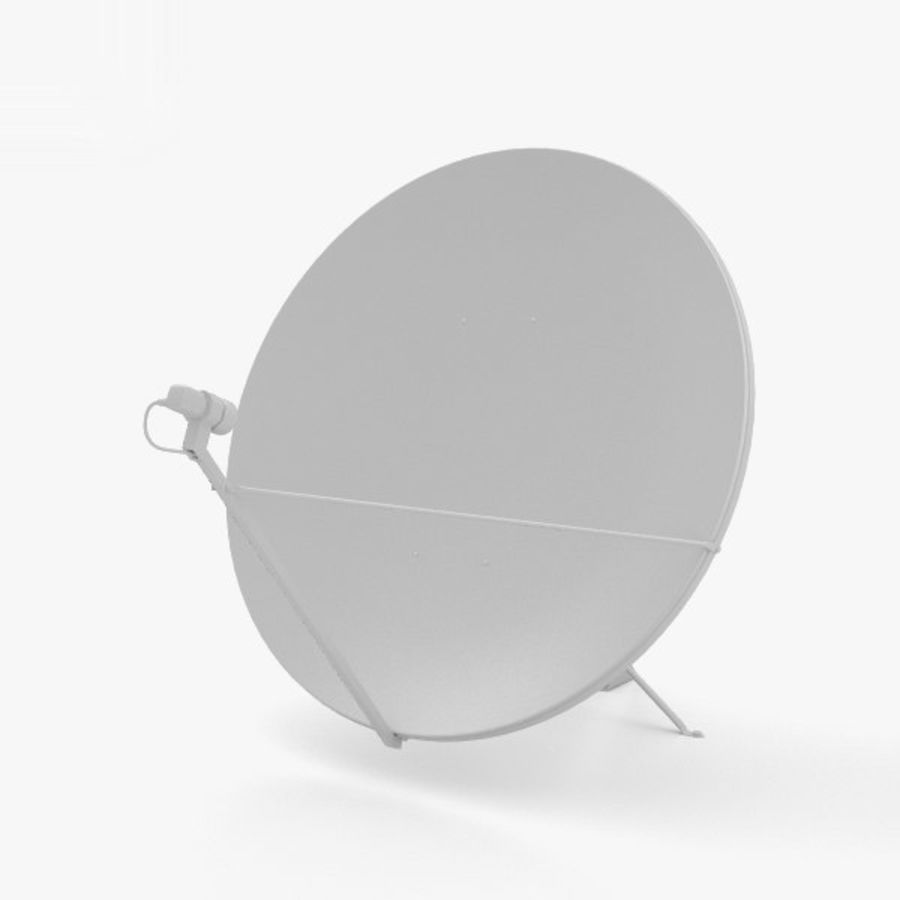 Satellietschotel royalty-free 3d model - Preview no. 11
