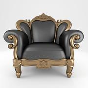 豪华扶手椅158 3d model