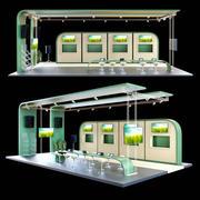 Stand d'exposition 2 3d model