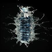 Botella de salpicaduras de agua 1 modelo 3d