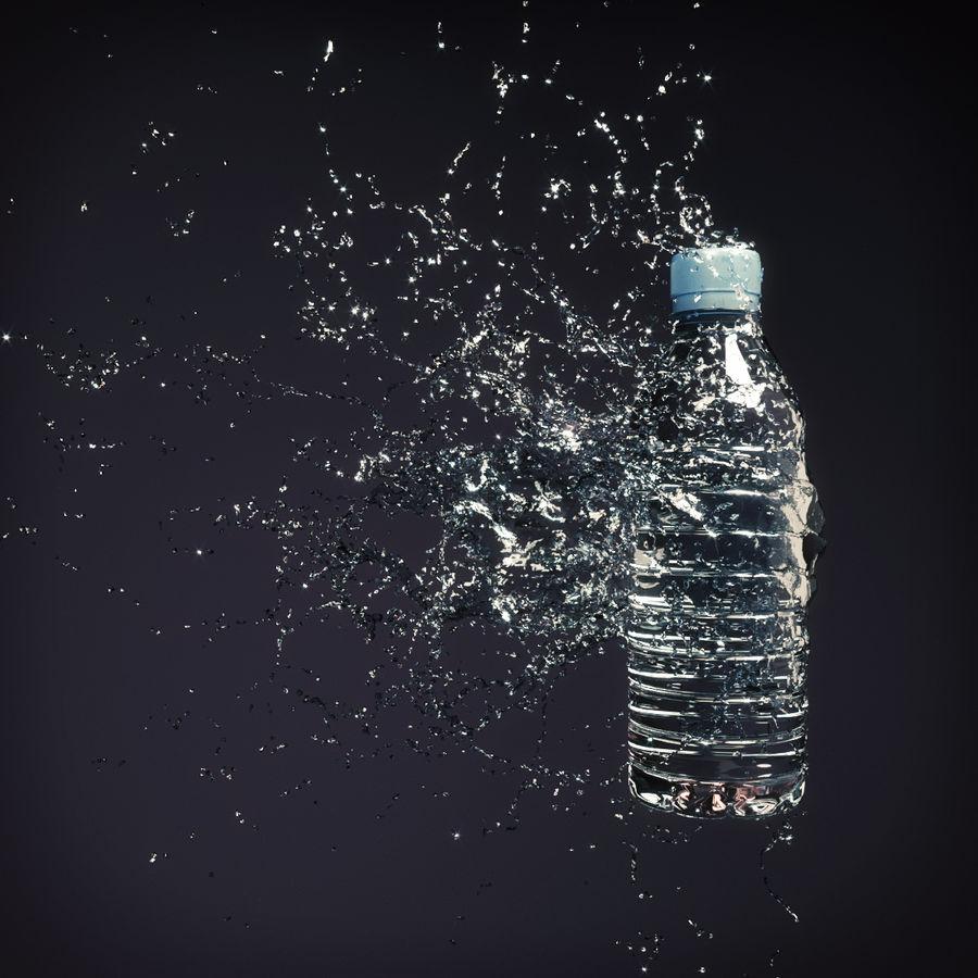 ウォータースプラッシュボトル4 royalty-free 3d model - Preview no. 3