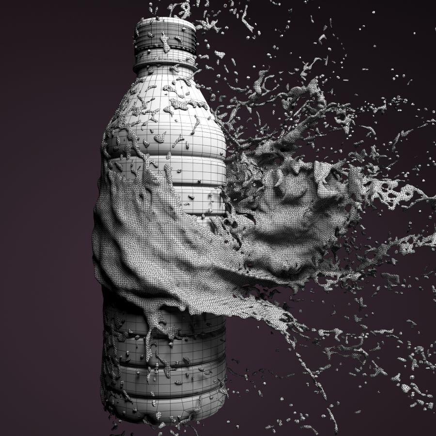 ウォータースプラッシュボトル4 royalty-free 3d model - Preview no. 5