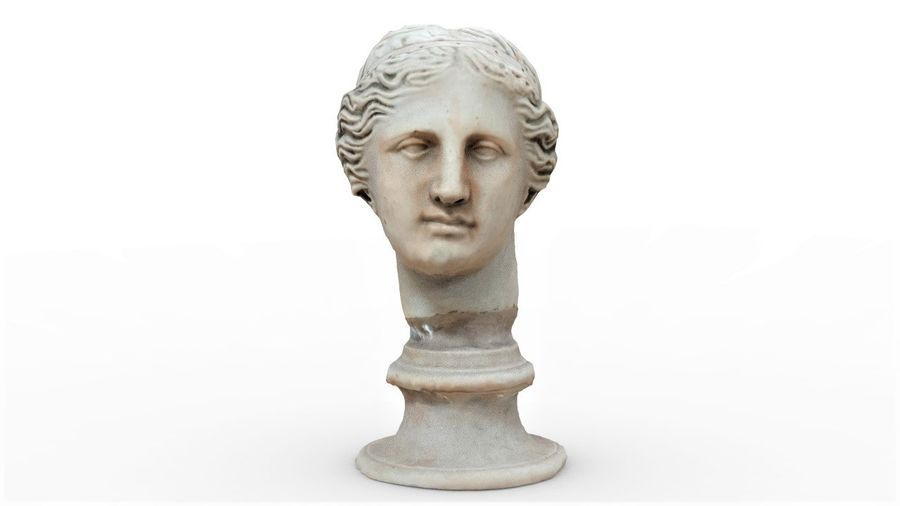 Female Bust royalty-free 3d model - Preview no. 2