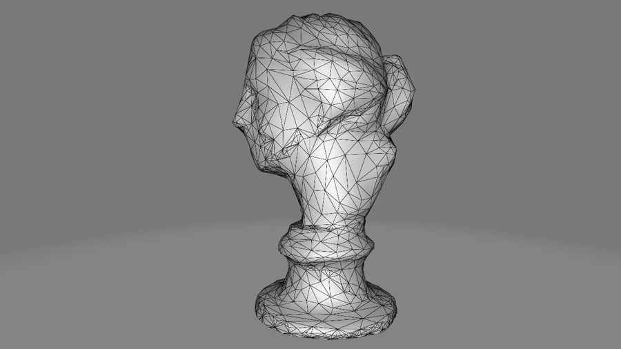 Female Bust royalty-free 3d model - Preview no. 10