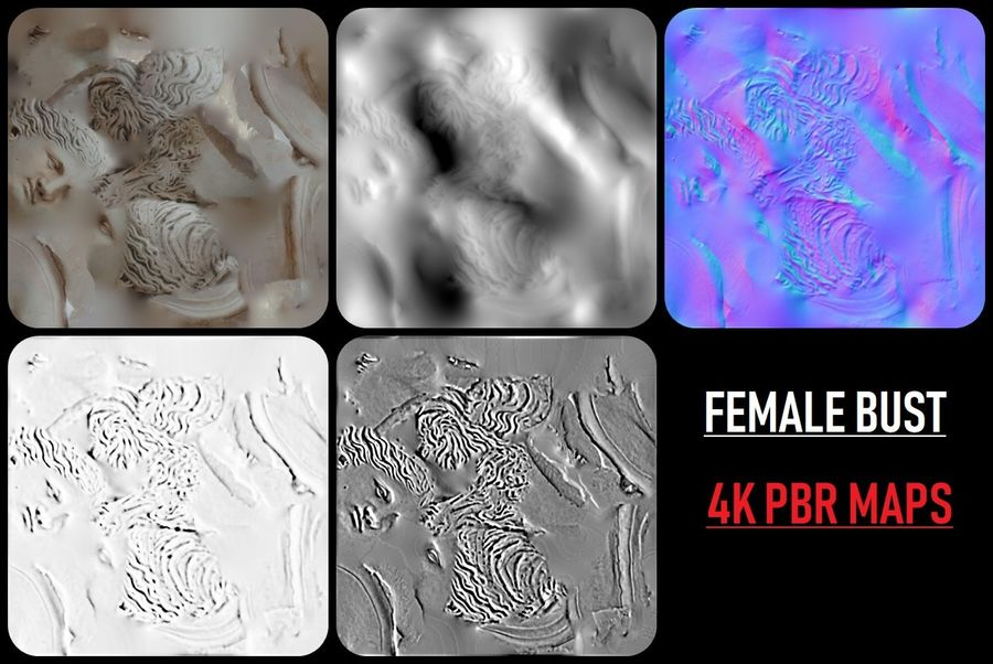 Female Bust royalty-free 3d model - Preview no. 12