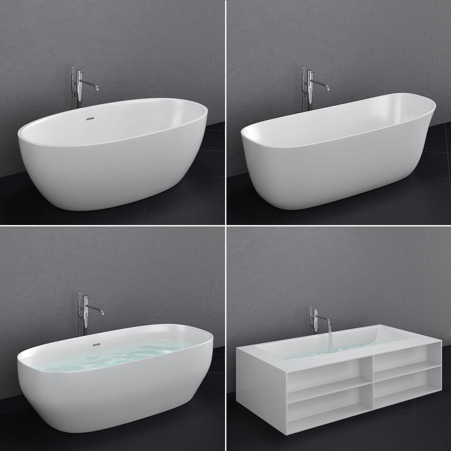 Set of freestanding baths Antoniolupi set 45 (Ago, Biblio, Dafne, Reflexmood) royalty-free 3d model - Preview no. 1