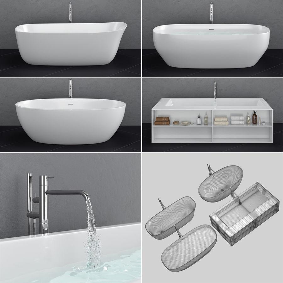 Set of freestanding baths Antoniolupi set 45 (Ago, Biblio, Dafne, Reflexmood) royalty-free 3d model - Preview no. 4