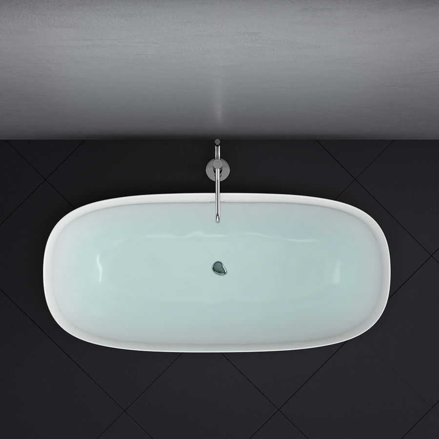 Set of freestanding baths Antoniolupi set 45 (Ago, Biblio, Dafne, Reflexmood) royalty-free 3d model - Preview no. 13
