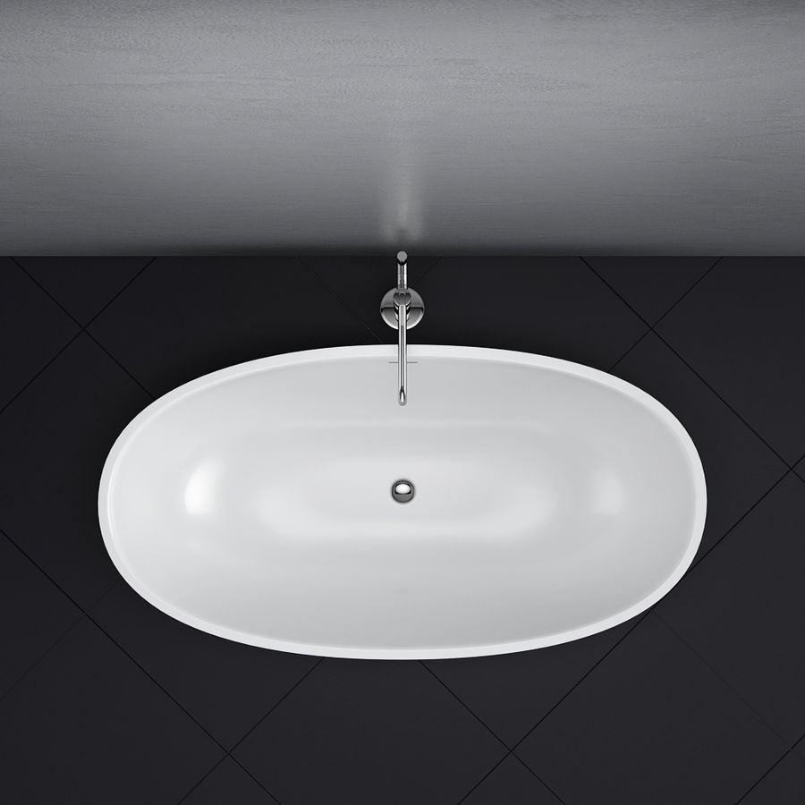Set of freestanding baths Antoniolupi set 45 (Ago, Biblio, Dafne, Reflexmood) royalty-free 3d model - Preview no. 10