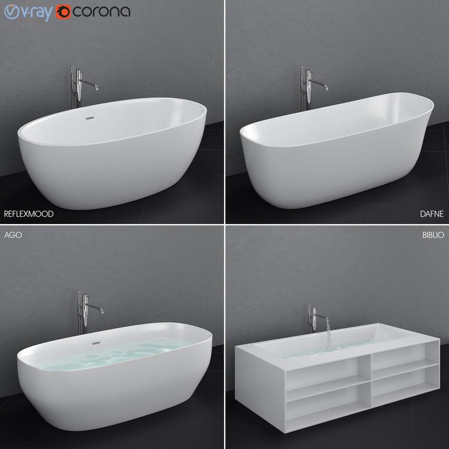 Set of freestanding baths Antoniolupi set 45 (Ago, Biblio, Dafne, Reflexmood) royalty-free 3d model - Preview no. 2