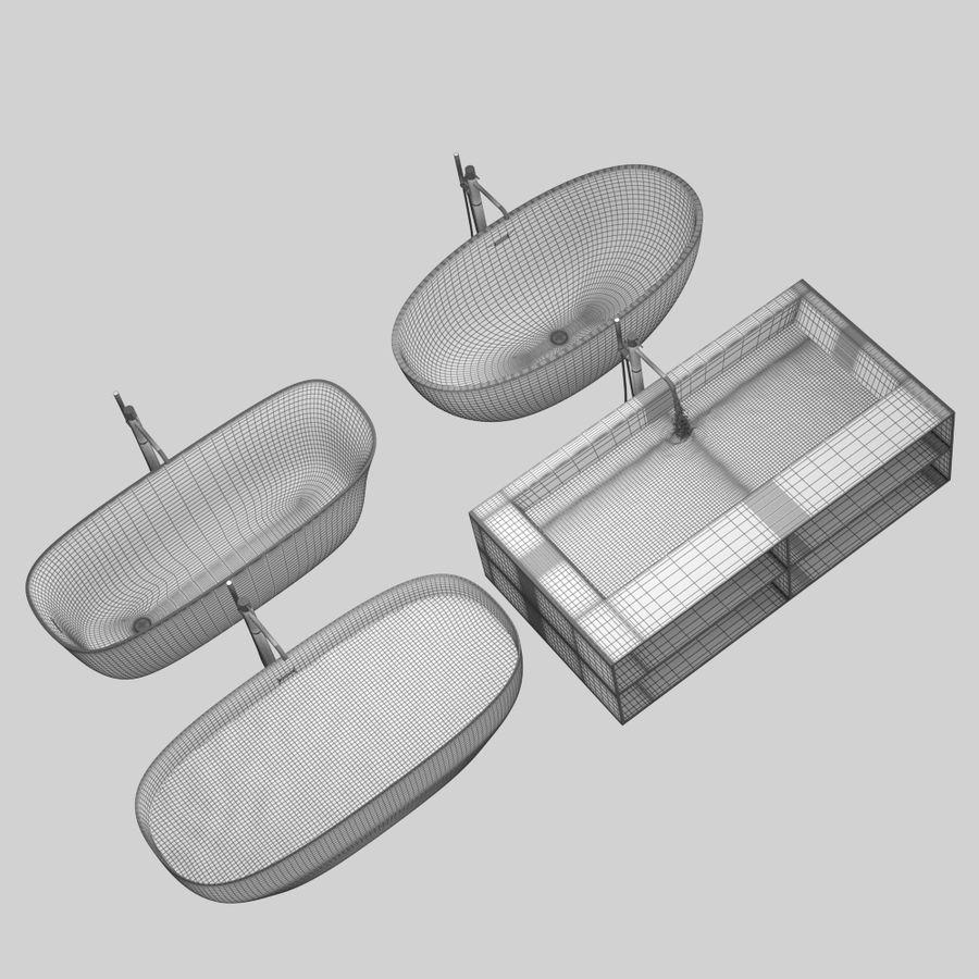 Set of freestanding baths Antoniolupi set 45 (Ago, Biblio, Dafne, Reflexmood) royalty-free 3d model - Preview no. 18
