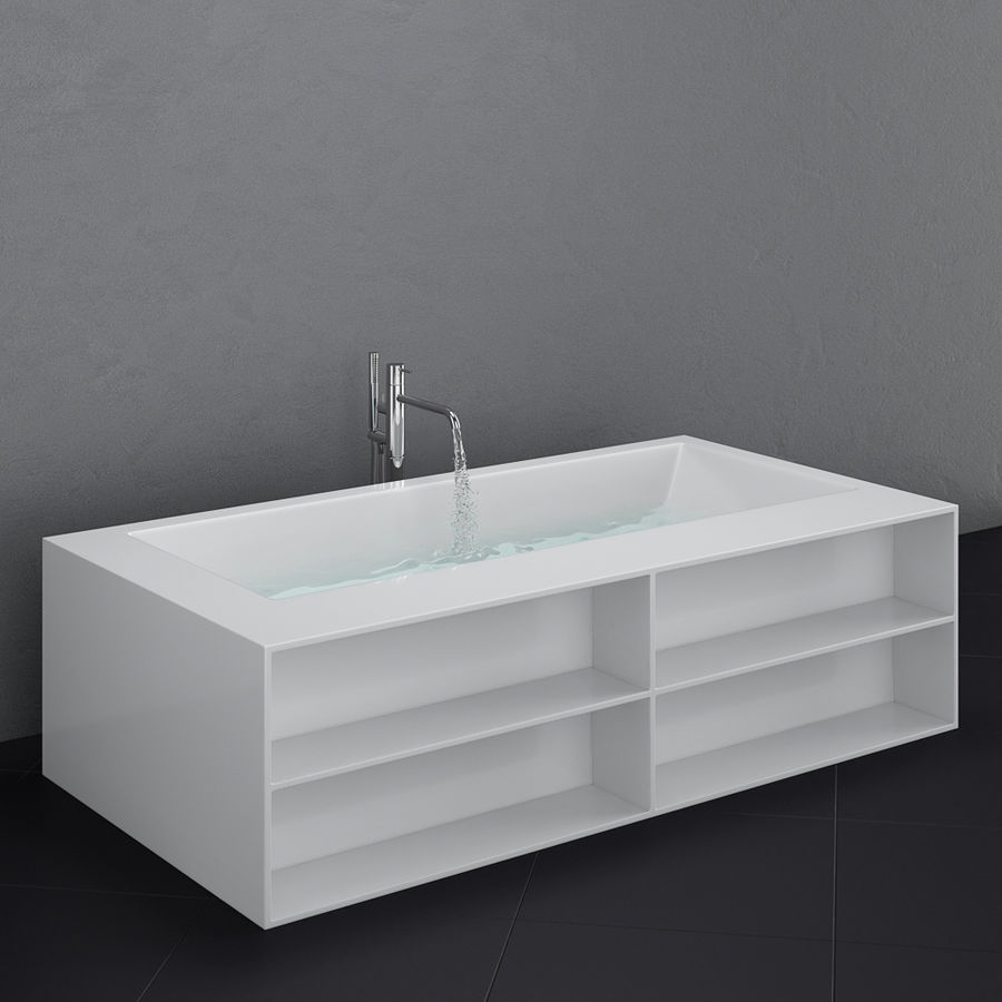Set of freestanding baths Antoniolupi set 45 (Ago, Biblio, Dafne, Reflexmood) royalty-free 3d model - Preview no. 14