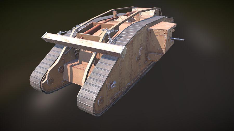 マークIVタンク royalty-free 3d model - Preview no. 4