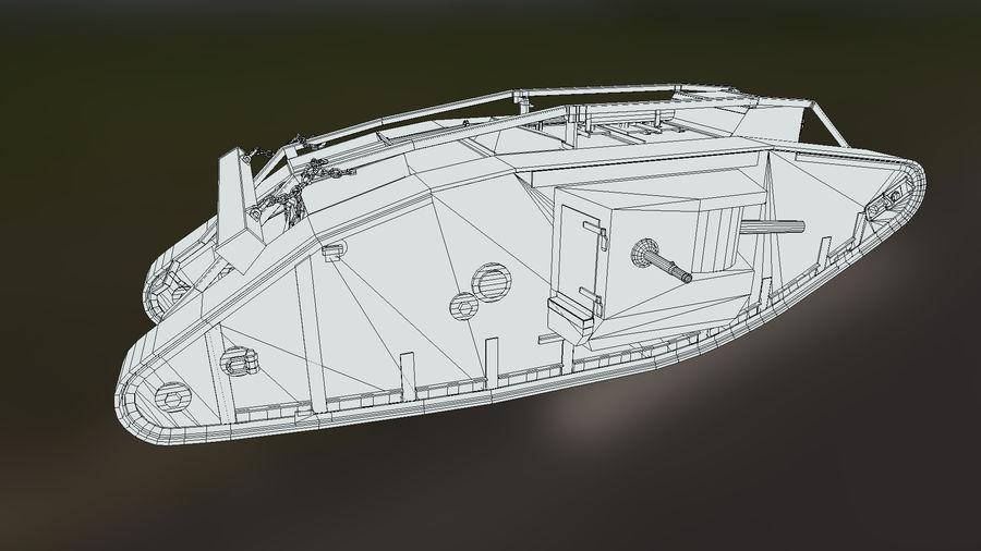 マークIVタンク royalty-free 3d model - Preview no. 9