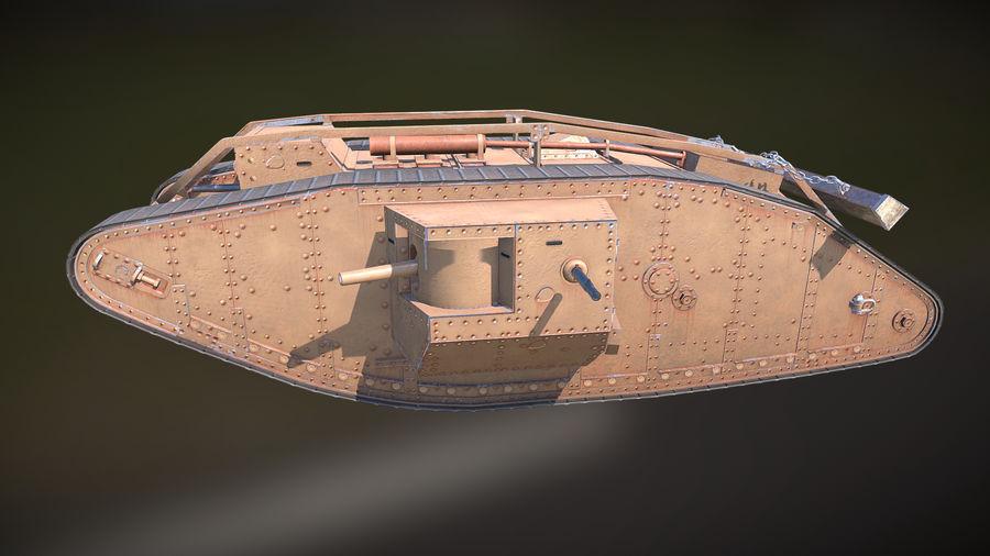 マークIVタンク royalty-free 3d model - Preview no. 2