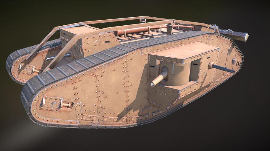 マークIVタンク royalty-free 3d model - Preview no. 1