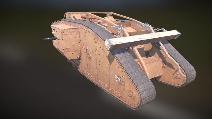 マークIVタンク royalty-free 3d model - Preview no. 3