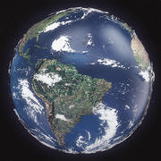 Realistic Earth High Pol 3d model